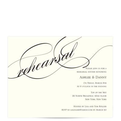 forever in love rehearsal dinner invitations