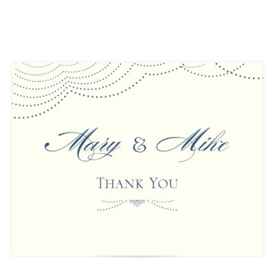 Navy Wedding Thank You Card