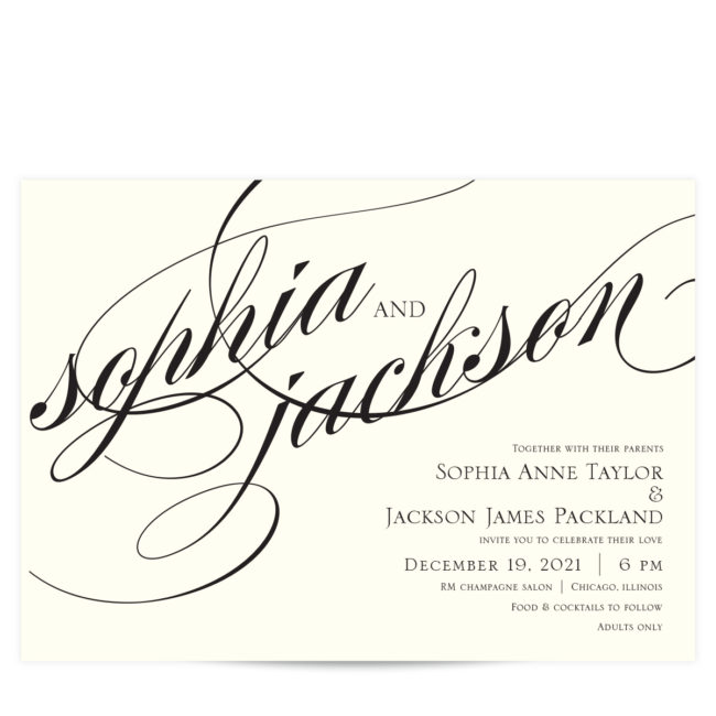 names in love wedding invitaitons