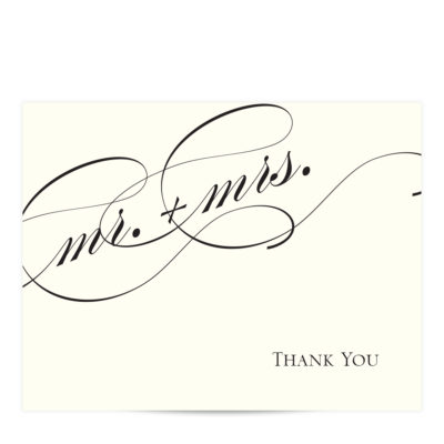 mr and mrs thank you cards