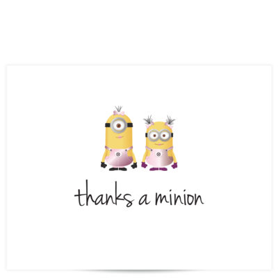 Minion Thank You Cards
