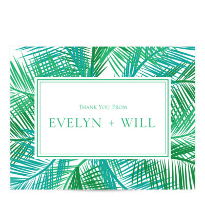 Palm Tree Thank You Card