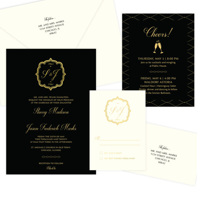 Black and Gold Wedding Suite
