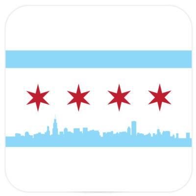 Chicago Flag Coasters