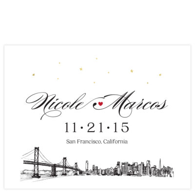 skyline save the date cards