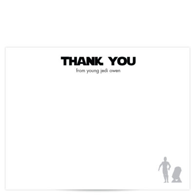 Star Wars Thank You Card