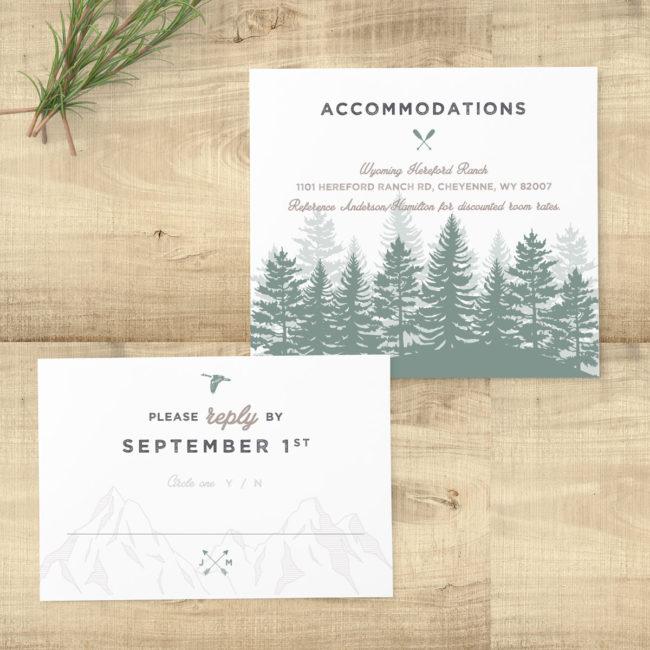 Forest Rustic Sage Wedding Suite