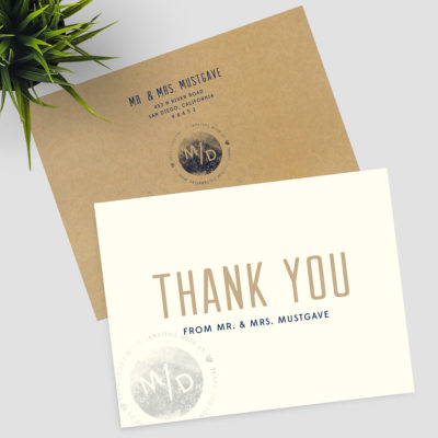 To Be Wed Thank You Cards