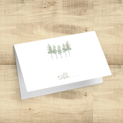 Aspen Trees Blank Place Cards