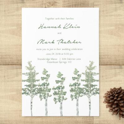 Aspen Trees Wedding Invitation Suite