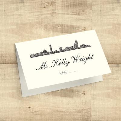 City Skyline Escort Cards