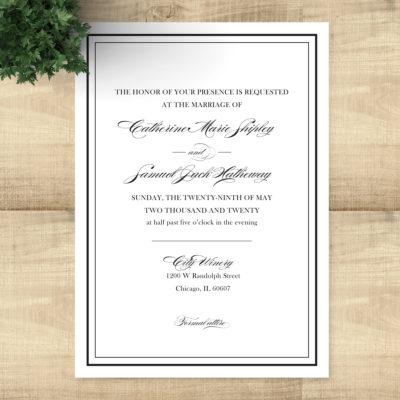 Catherine Ball - Black and white wedding invitations