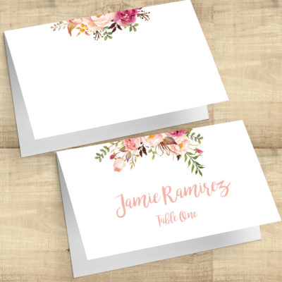 Floral Posies Escort Cards