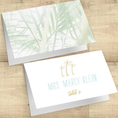 Tropical Palms Escort Cards
