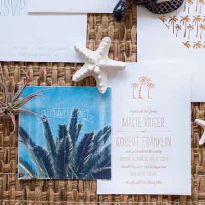 Palms on the Beach Wedding Invitation Suite