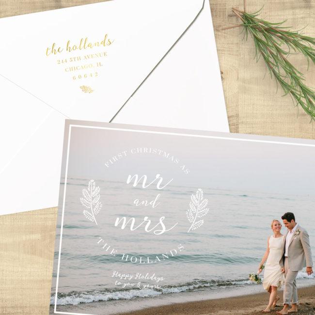 Mr. & Mrs. First Christmas - Return Address Printing