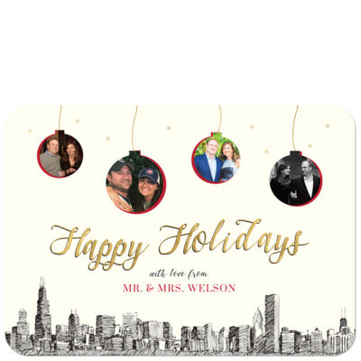 Ornaments Holiday - City Skyline Holiday Cards with Photos - Pixie
