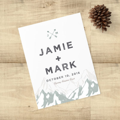 Forest Rustic Save the Date