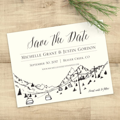 Mountain Skyline Save the Date