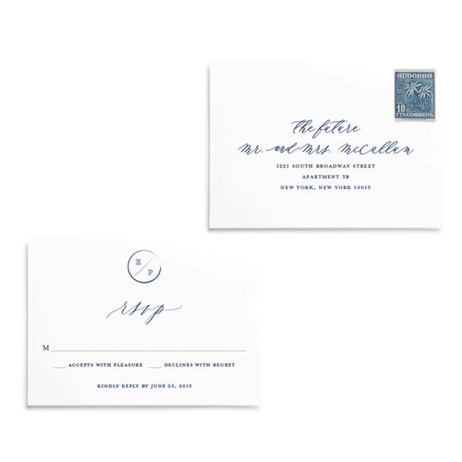 RSVP cards | Navy Grace