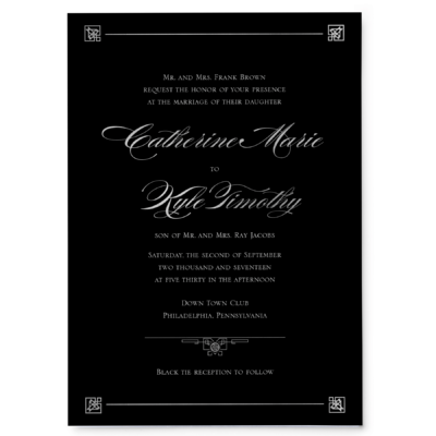 Night With Gatsby - Main Invitation
