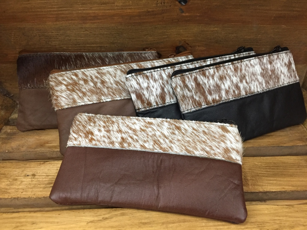Leather Hide Clutch