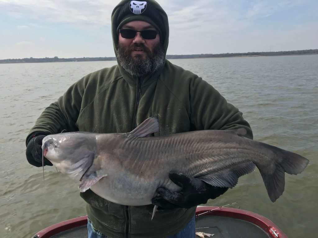 Blue Catfish caught on a guided fishing tour.