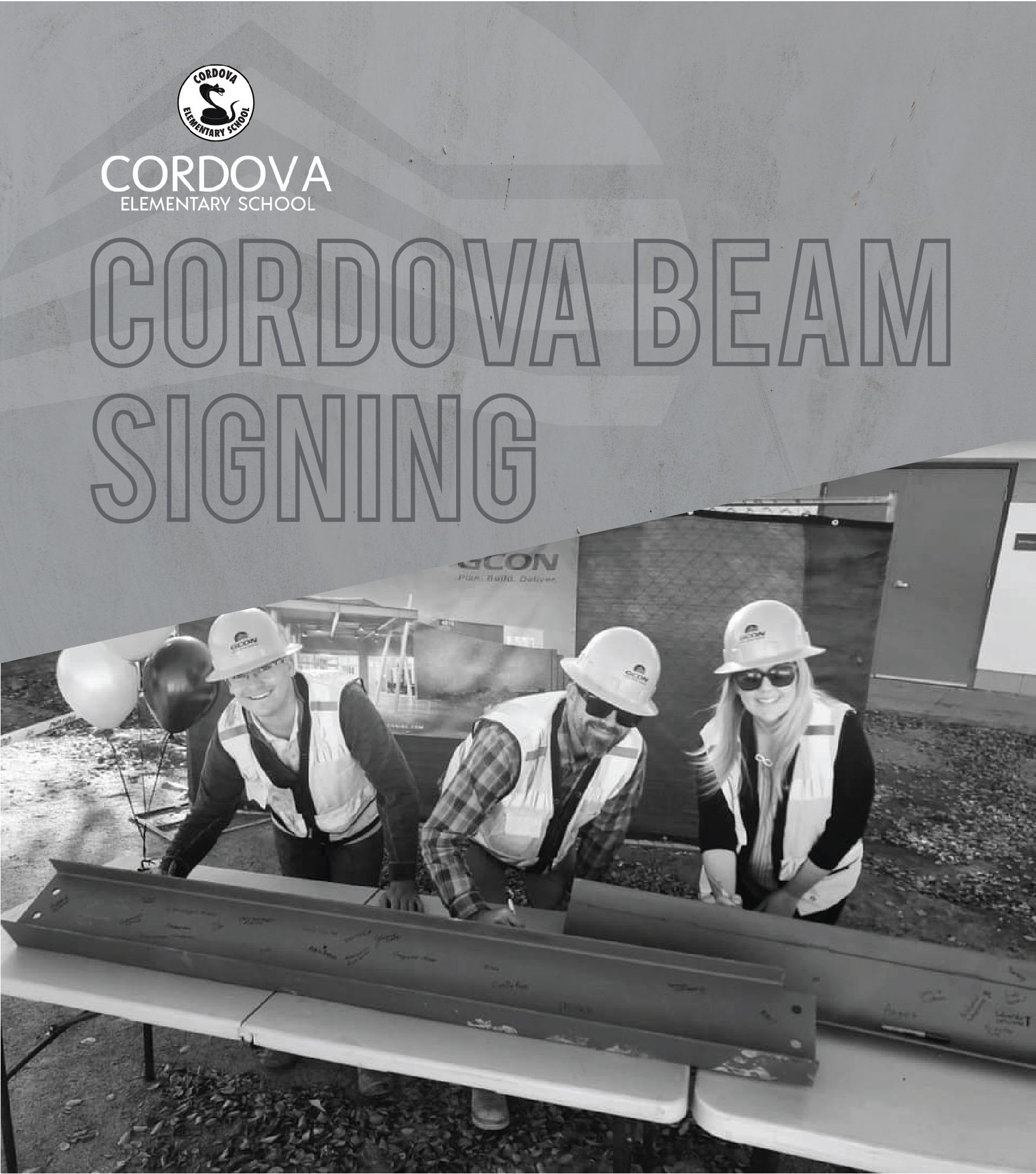 Cordova Elementary School Beam Signing