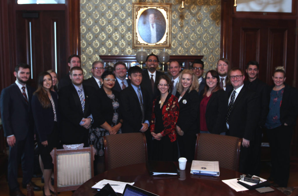 The group meets with Secretary of Education John King Jr, and Cecilia Munoz, Senior Advisor
