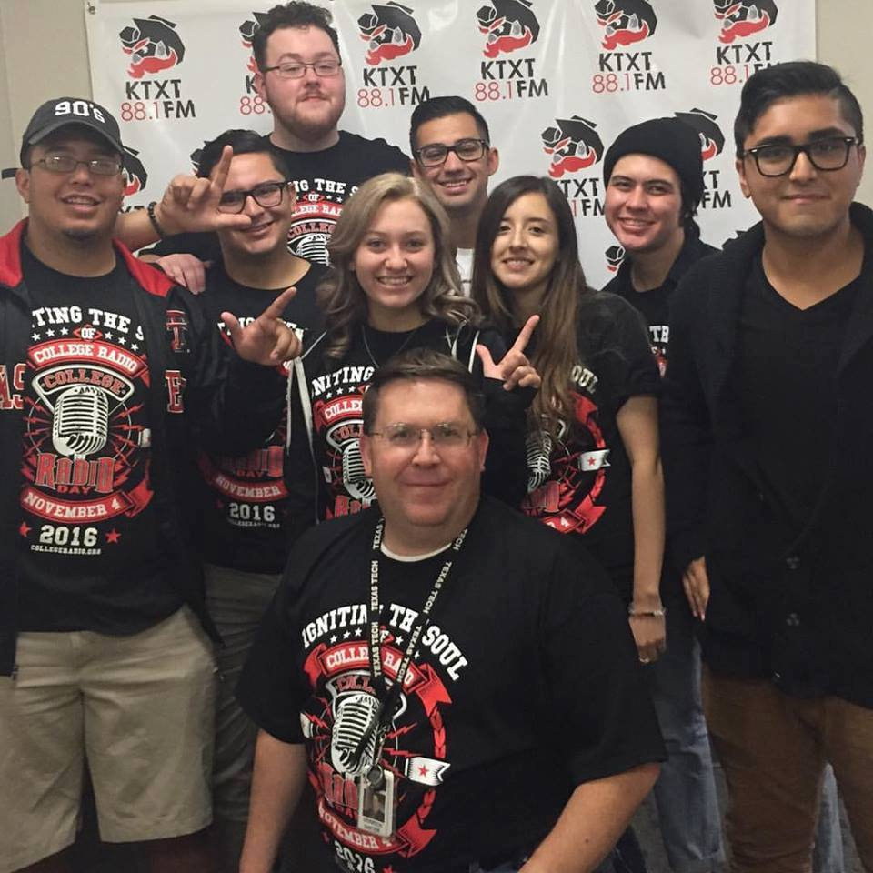 The staff of KTXT at Texas Tech University celebrate CRD 2016!