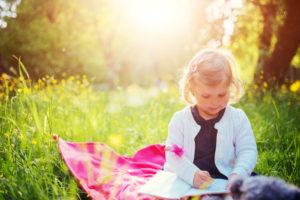 child on picnic