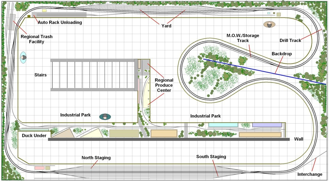 Model railroad layout design service