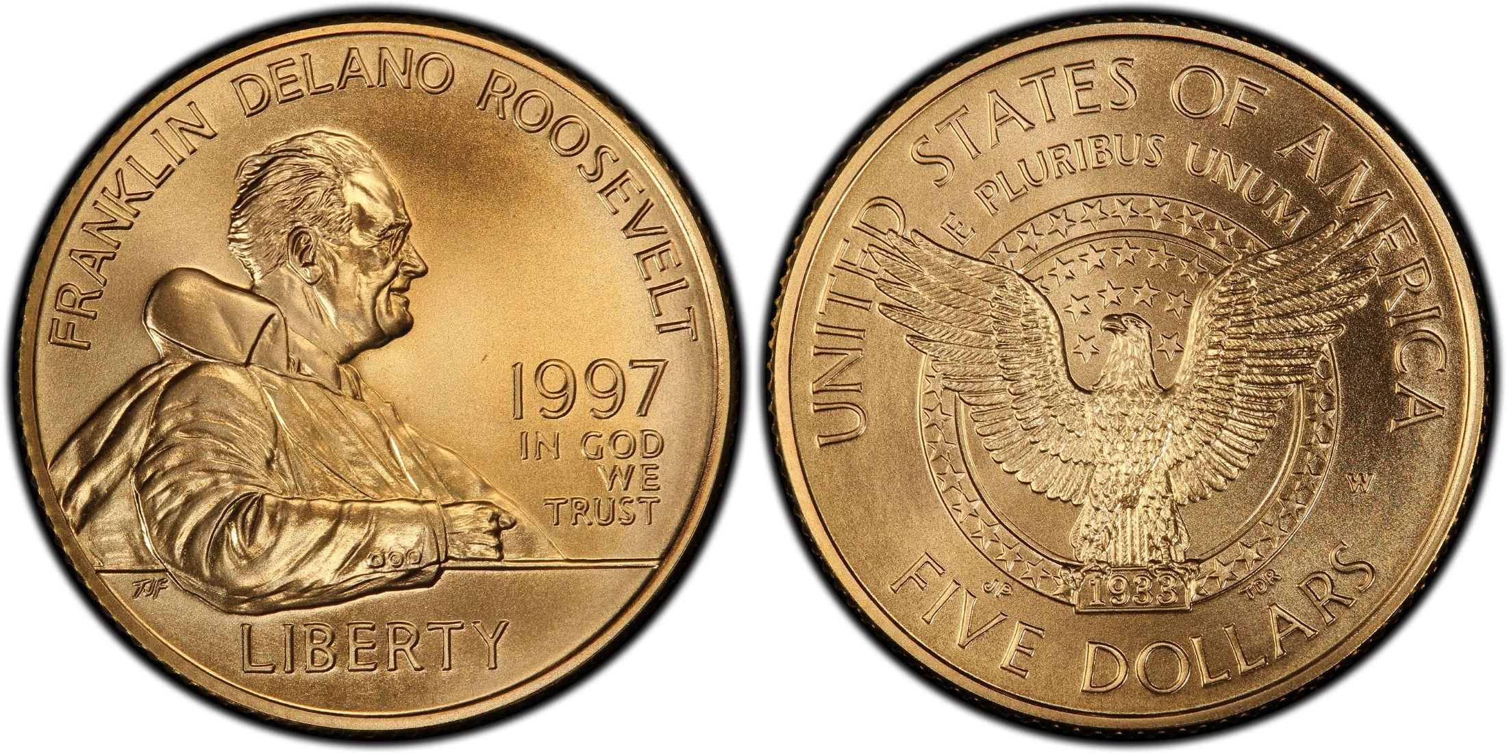 1997 FDR $5 Gold