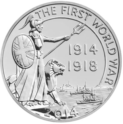 United Kingdom issues 2014 World War I Commemorative Coins