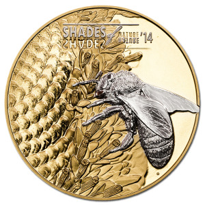 Cook Islands 2014 $5 Shades Of Nature - Bee Reverse
