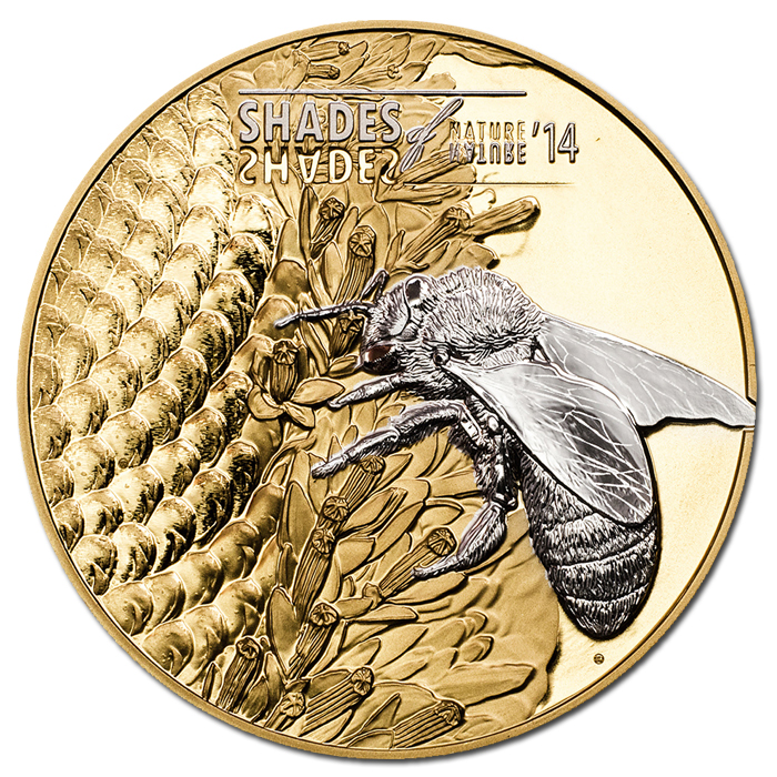 Cook Islands Issues 2014 Shades of Nature – Bees Coin
