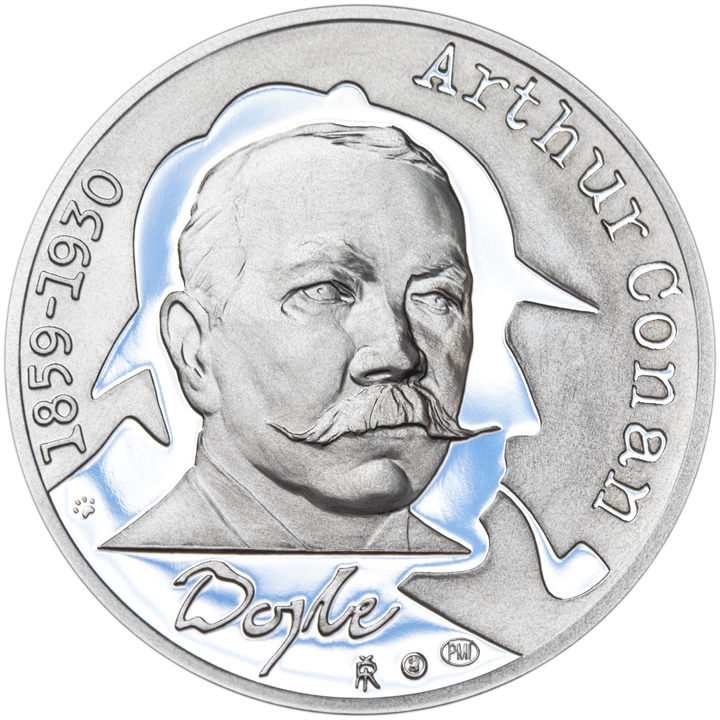 Prague Mint Commemorates Arthur Conan Doyle's 155th Birthday