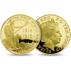 QEII WWI 10 Pound. Gold