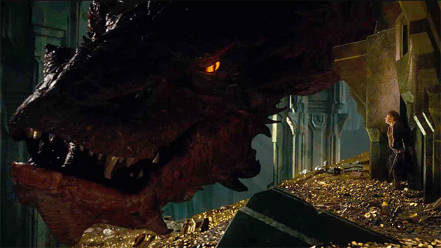 Bilbo with Smaug
