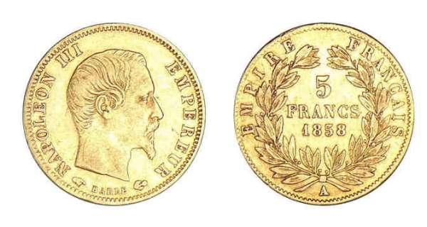 Napoleon III 5 Francs