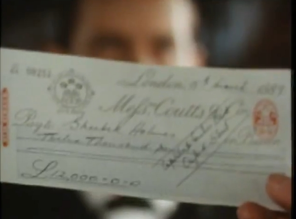 Sherlock Holmes and Cheques, Part II