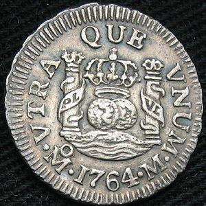 1764 Half Real Obv