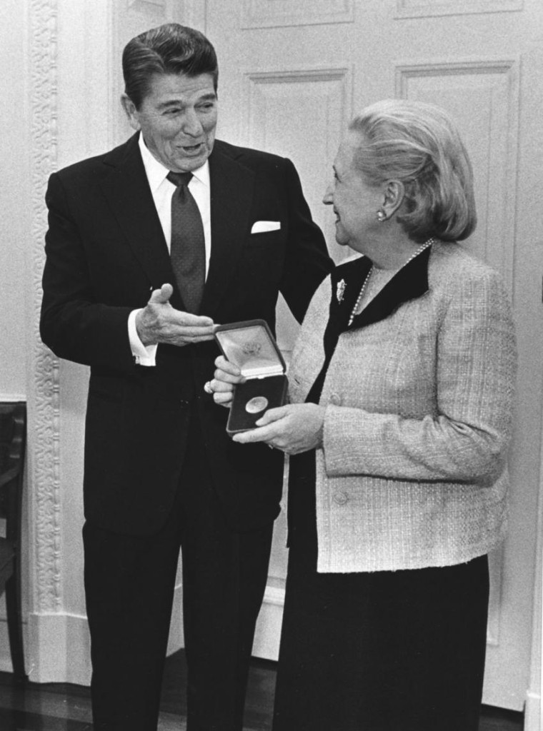 Reagan and Margaret Truman