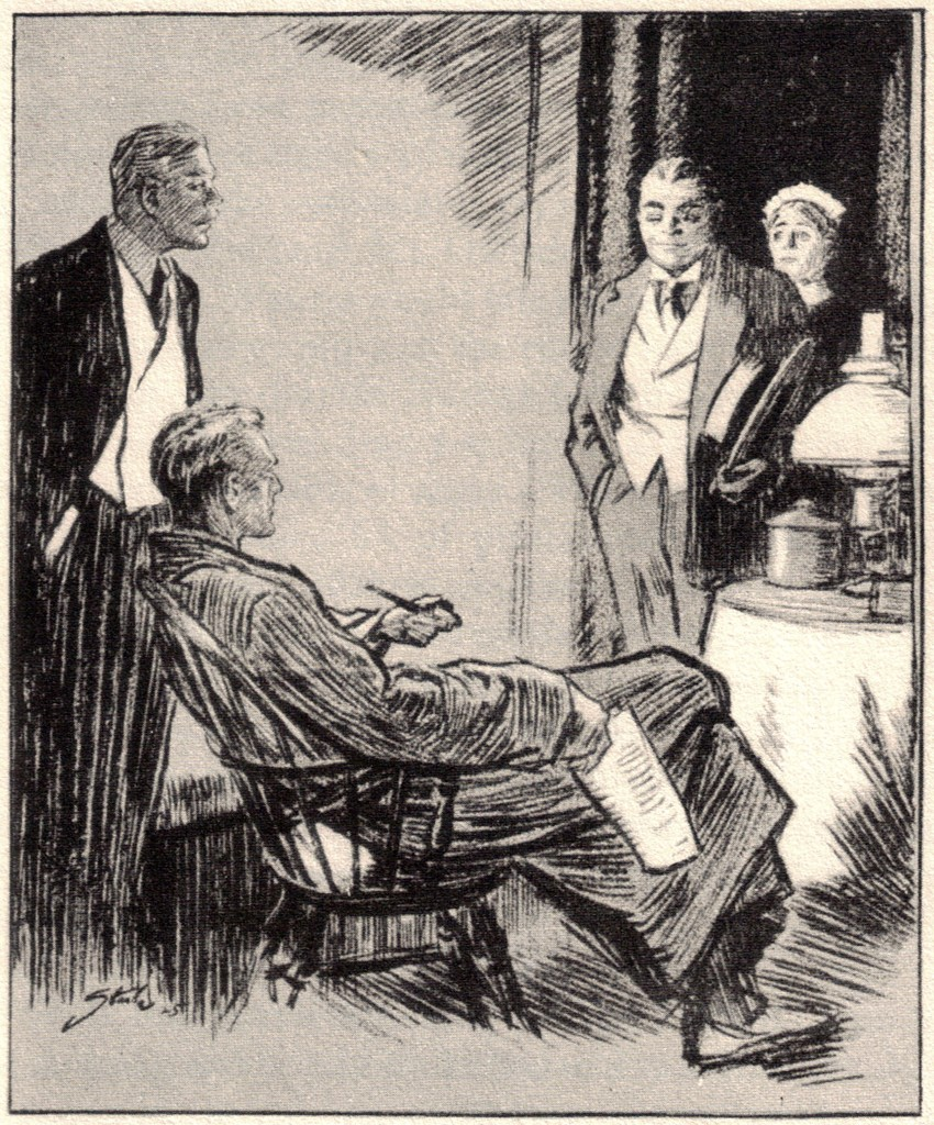 """But surely you have been in England some time,' said Sherlock Holmes to Mr. Garrideb of Kansas. Mr.Garrideb wondered how Mr.Homes knew. ""The shoulder cut of your coat, the toes of your boots-could anyone doubt it,"" said Holmes."