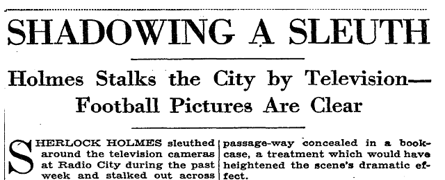 NYT 3GAR Telecast Headline