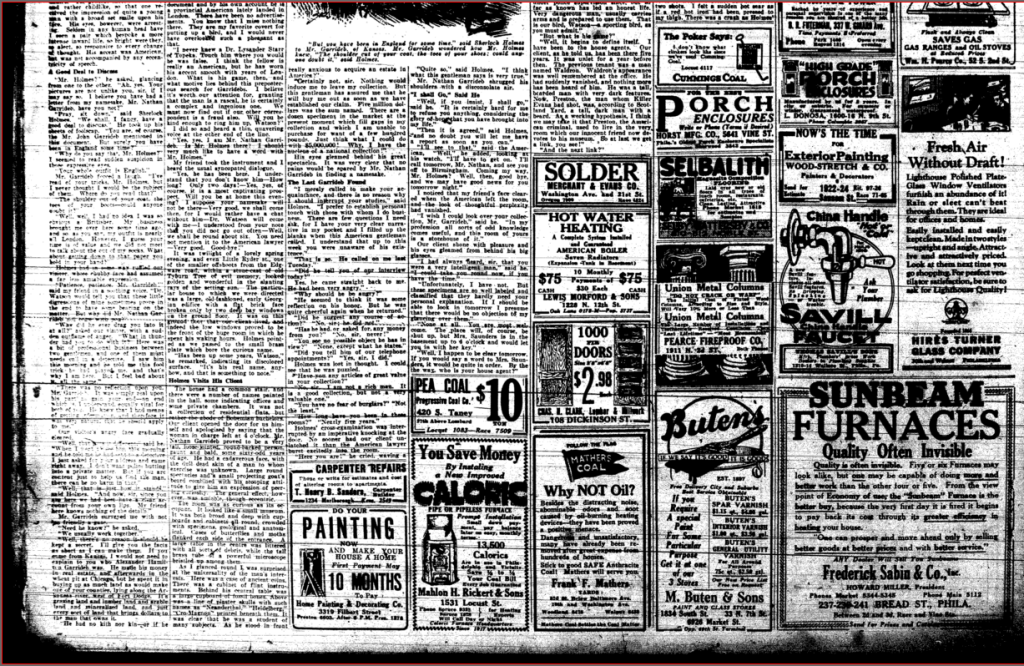 Philly Evening Bulletin 04041925 3GAR Bottom