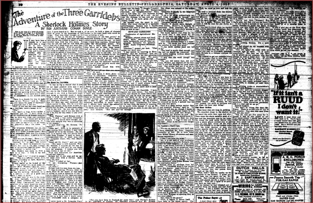 Philly Evening Bulletin 04041925 3GAR Top