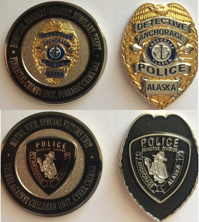 North to Alaska! Anchorage Police Issue 2 Challenge Coins with