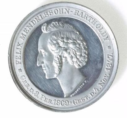 Numismatic Art Featuring Felix Mendelssohn
