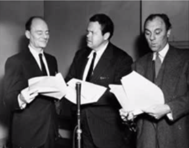 Sir John Gielgud, Orson Welles, Sir Ralph Richardson - BBC Radio 1954